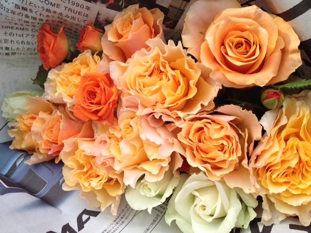 バラの花束を どうぞ♡