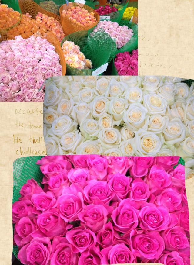 バラの花束をどうぞ